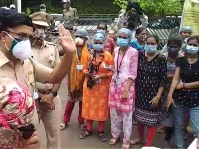 Thane: Nurses at COVID hospital protest as TMC gives contract to a private contractor; MNS Avinash Jadhav taken into custody