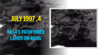 Mars Pathfinder, a robotic spacecraft, safely landed on the surface of Mars on July 4, 1997