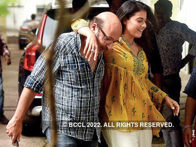 Spotted: Kajol and Mickey Contractor in Goregaon