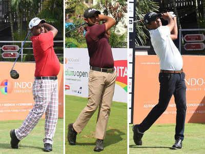Bengaluru Open Golf Championship: Mukesh Kumar, Honey Baisoya and Harendra Gupta share lead on day one
