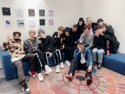 This picture of BTS and TXT together is melting hearts!