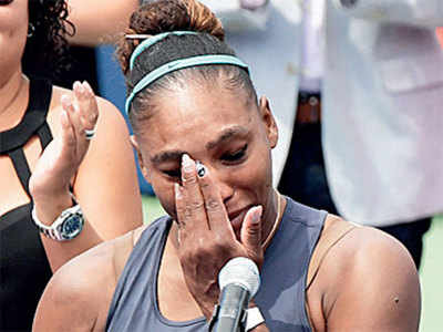 Tearful end for Serena Williams in Toronto final