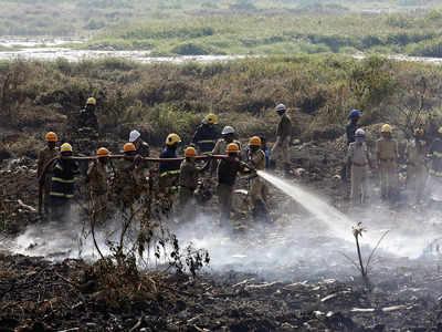 Grass caught fire, not Bellandur lake