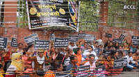 Queer community of Nagpur got together to protest against their co-member Chamcham's murder