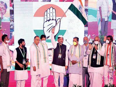 Grand digital show as DK Shivakumar takes charge of Congress