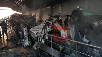 Exclusive photos: Mumbai Monorail catches fire at Mysore colony station, services to resume by afternoon
