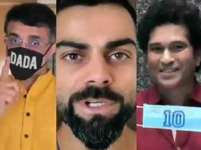 Team Mask Force: Kohli, Sachin, Ganguly promote the use of homemade masks in a special video PSA