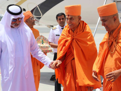 Indians rejoice as foundation stone laid for first Hindu temple in Abu Dhabi
