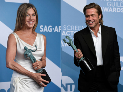 Jennifer Aniston and Brad Pitt win awards and hearts at SAGs 2020