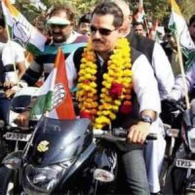 Did the Gandhis puncture Robert's bike rally?