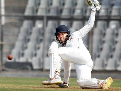 Hardik Tamore makes a point even as Mumbai eye win against Madhya Pradesh