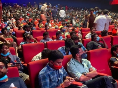 Master: Chennai theatre fined for violation of social distancing norms