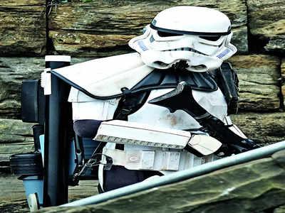 Stormtrooper's helmet or Wilson?