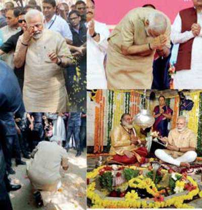 Emotional homecoming for 'son of soil' Modi