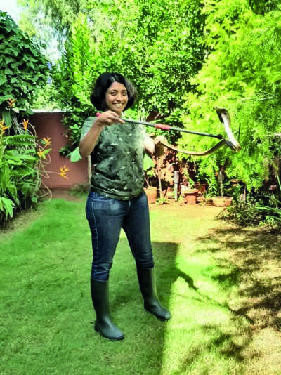Rescuing snakes is a one-woman job