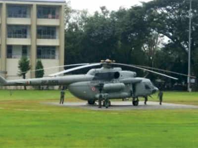 Mumbai: Football ground at IIT turns into three helipads for PM Narendra Modi