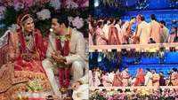 Akash Ambani-Shloka Mehta look smitten with each other at their lavish wedding