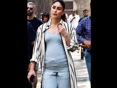 Kareena Kapoor spotted with a baby bump in SoBo