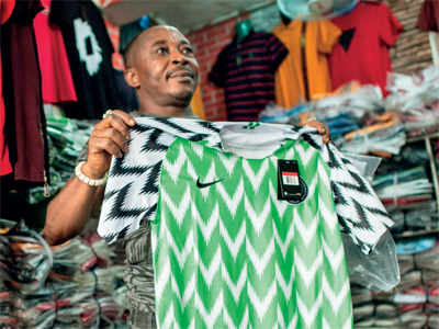 1d88634dd77 Nigeria  Fake Nigeria World Cup jerseys fl ying off the shelves