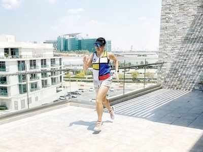 Dubai couple runs 42 kilometres in their 20-metre balcony during home quarantine