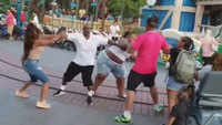 Families fight at Disneyland, video goes viral