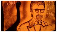 Sand artist conveys 'Get Well Soon' message to Amitabh Bachchan