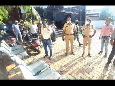 Bullets fired at the office of MLA Bansode
