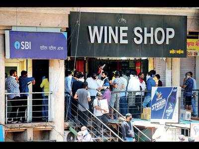 Nine wine shop owners across city booked for chaos on Monday