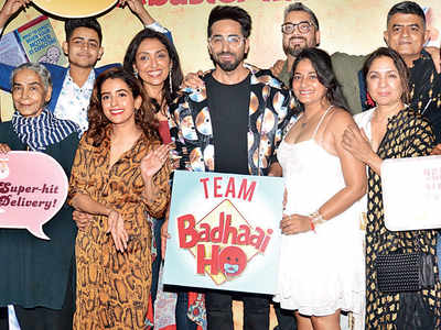 Badhaai Ho team celebrates success