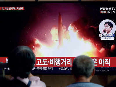 North Korea fires two missiles