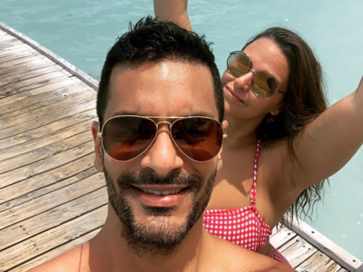 In pics: Neha Dhupia, Angad Bedi enjoy vacation in Maldives