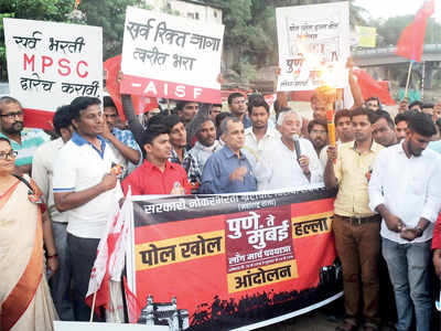 MPSC aspirants protest against govt to combat unemployment
