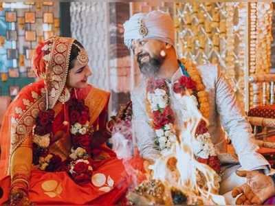 Actor-director Anand Tiwari and actress Angira Dhar get married
