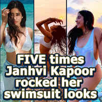 FIVE times Janhvi Kapoor left her fans drooling over her swimsuit looks