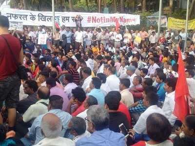 Not In My Name: Protesters gather in Mumbai to fight for democratic rights