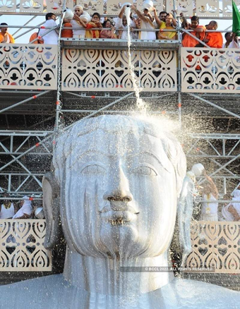 Mahamastakabhisheka unfolds in Shravanabelagola amid rituals and visual splendour