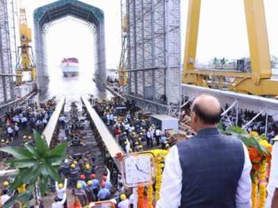 Defence Minister Rajnath Singh launches stealth frigate INS Nilgiri