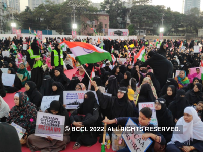 Mumbai women carry out a massive protest at YMCA ground against CAA, NRC, NPR