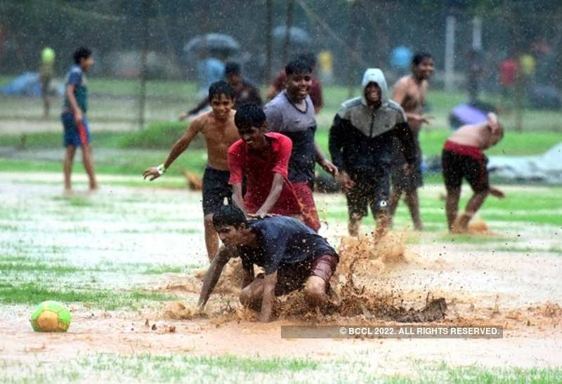 Mumbai rains are for football!