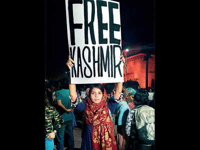 Woman behind the controversial 'Free Kashmir' placard apologises