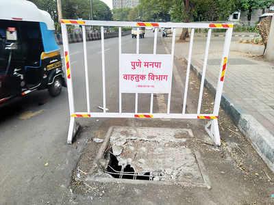 Commuters demand repair of manhole