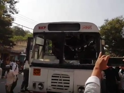 Hyderabad: Woman riding two-wheeler mowed down under RTC bus, driver thrashed by angry people