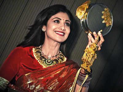 Shilpa Shetty celebrates Karva Chauth