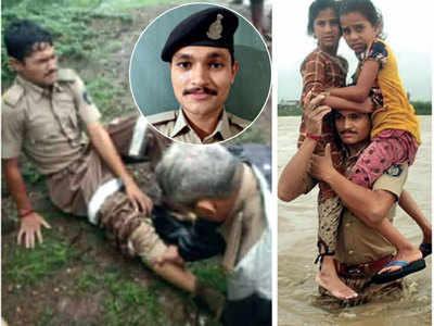 CM Rupani lauds braveheart cop