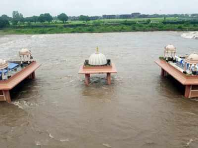 Swaminarayan temple submerged after heavy rain in Rajkot