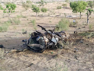 IAF MiG-21 crashes in Barmer, pilot ejects safely