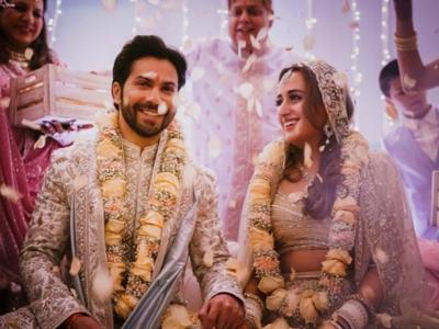 First Photos: Varun Dhawan gets married to Natasha Dalal
