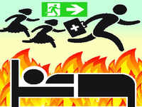 7 rescued after fire breaks out in west Delhi hospital