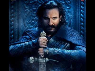 Saif as Udaybhan looks fierce and mighty