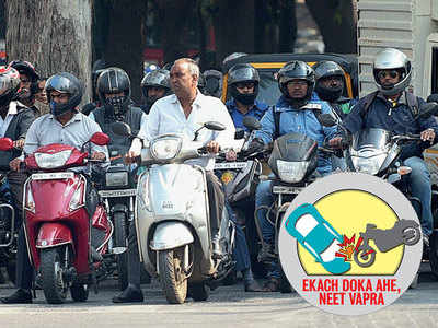 After compulsion, city sees rise in riders with helmets